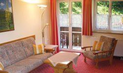 Berghotel Mühle Appartement Wohnraum