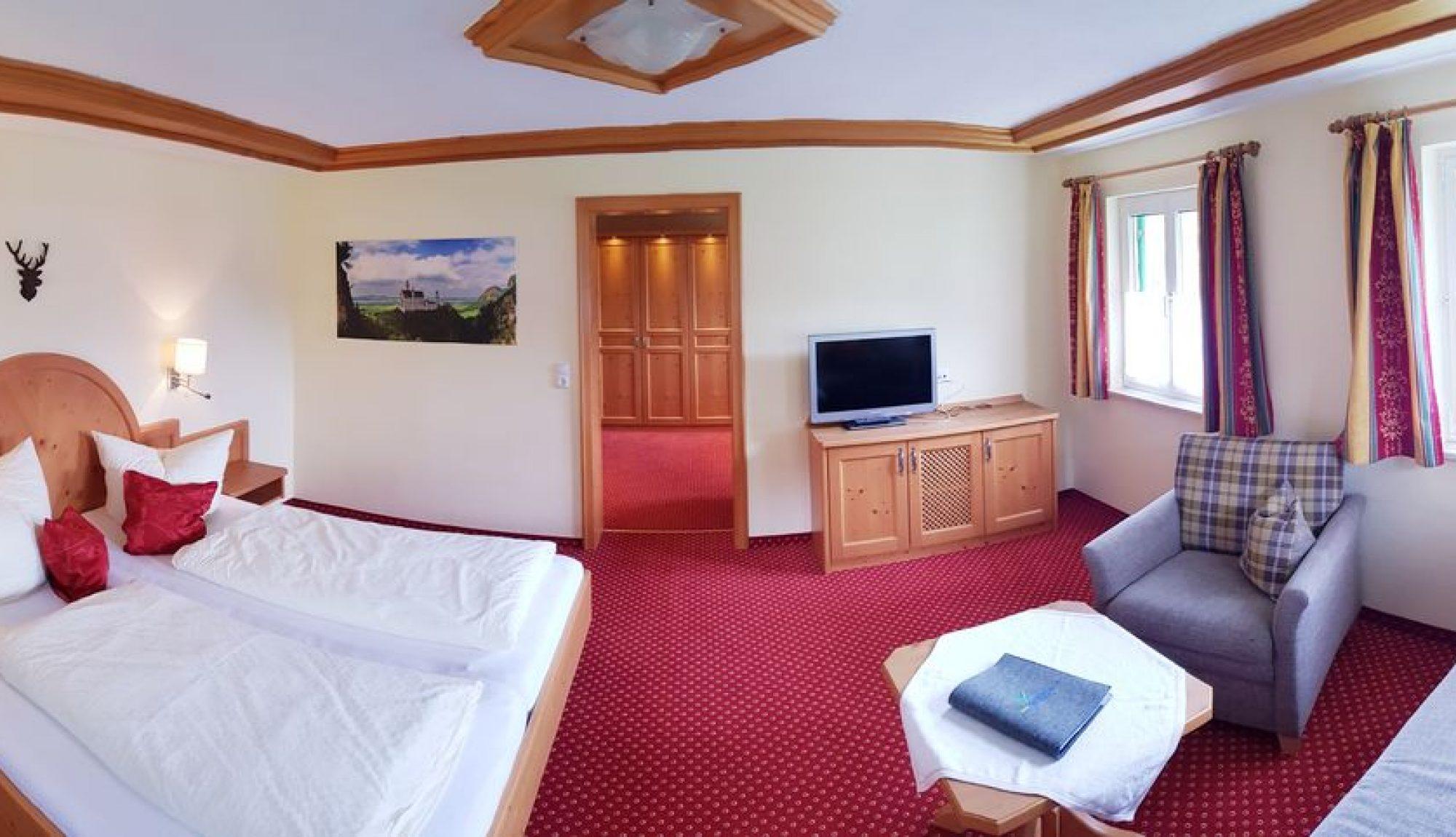 Berghotel Mühle Landhaus-Zimmer ohne Balkon Schlafzimmer